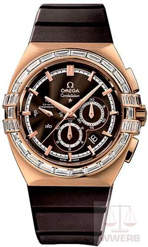 Omega Constellation Double Eagle Co-Axial Rose Gold Diamonds